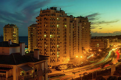 Photograph - Town At Twilight by Carlos Caetano