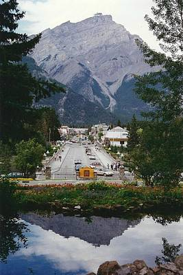 Town Of Banff Art Print by Shirley Sirois