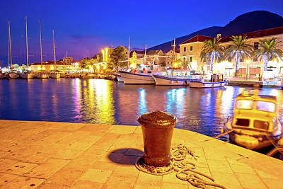 Photograph - Town Of Bol On Brac Island Harbor At Sunset View by Brch Photography