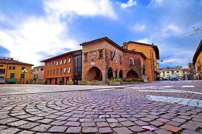 Photograph - Town Of Cividale Del Friuli Square View by Brch Photography