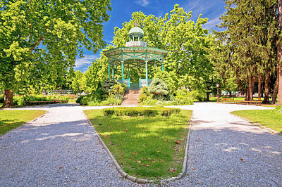Photograph - Town Of Koprivnica Park Walkway And Pavillion View by Brch Photography