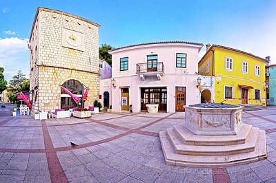 Photograph - Town Of Krk Historic Main Square Panoramic View by Brch Photography