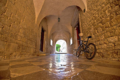 Photograph - Town Of Krk Historic Stone Steet Passage View by Brch Photography