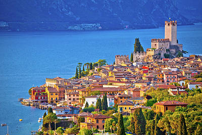 Photograph - Town Of Malcesine On Lago Di Garda Skyline View by Brch Photography