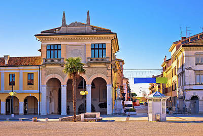 Photograph - Town Of Palmanova Colorful Street View by Brch Photography