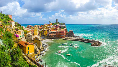 Holidays Photograph - Town Of Vernazza, Cinque Terre, Italy by JR Photography