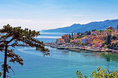 Photograph - Town Of Volosko Waterfront Panoramic View by Brch Photography