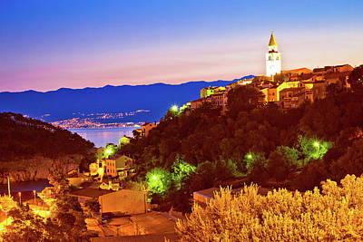 Photograph - Town Of Vrbnik On Krk Island Evening View by Brch Photography