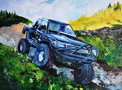 Painting - Toyota Truck - Doing Work by Valerie Curtiss