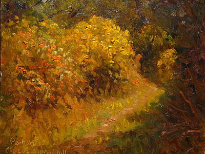 Painting - Track Through The Gorse by Terry Perham