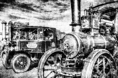 Photograph - Traction Engine And Steam Lorry Vintage by David Pyatt