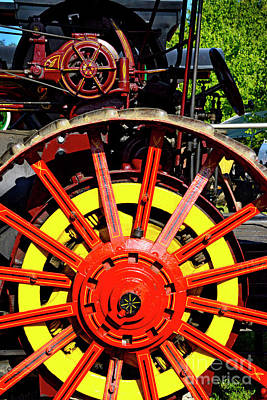 Photograph - Tractor Big Wheel by Paul W Faust - Impressions of Light
