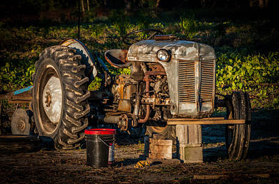 Tractor Downtime Art Print by Billy Burdette