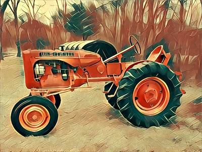 Digital Art - Tractor  by Mary Capriole