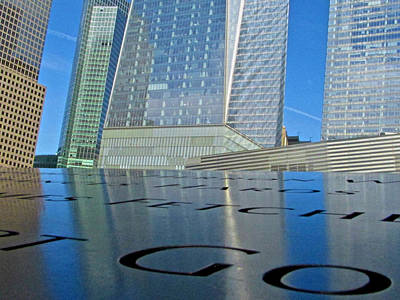 Photograph - Trade Center Reflections by Steven Lapkin
