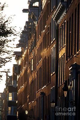 Traditional Canal Houses In Amsterdam. Netherlands. Europe Art Print by Bernard Jaubert