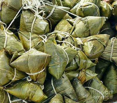 Photograph - Traditional Chinese Sticky Rice Dumplings by Yali Shi