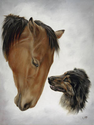 Painting - Trail Mates by Cathy Cleveland