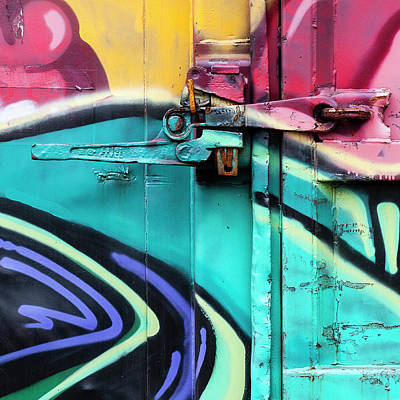 Graffitti Photograph - Train Art Abstract by Carol Leigh