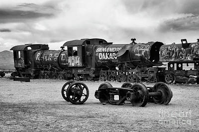 Photograph - Train Graveyard Uyuni  Bolivia 1 by Bob Christopher