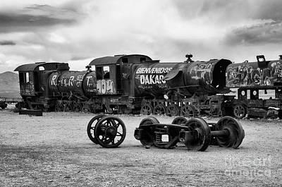 Photograph - Train Graveyard Uyuni  Bolivia 1 by Bob Christopher