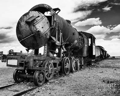 Photograph - Train Graveyard Uyuni  Bolivia 4 by Bob Christopher