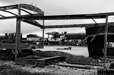 Photograph - Train Graveyard Uyuni  Bolivia 5 by Bob Christopher
