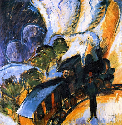 Townscape Painting - Train Station In Koenigstein by Ernst Ludwig Kirchner