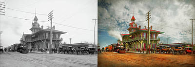 Photograph - Train Station - Pensacola Fl - The Louisville And Nashville Railroad 1900 by Mike Savad