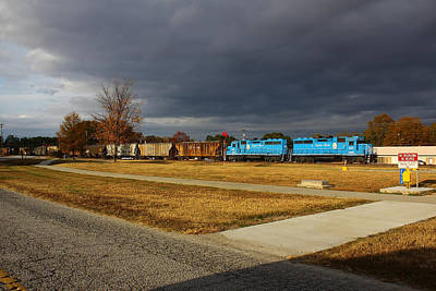 Photograph - Train Under An Angry Sky by Joseph C Hinson Photography