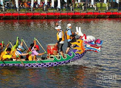 Photograph - Training For The Dragon Boat Races by Yali Shi