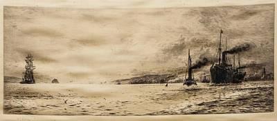 Tramp Steamer Painting - Tramp Steamer by William Lionel Wyllie