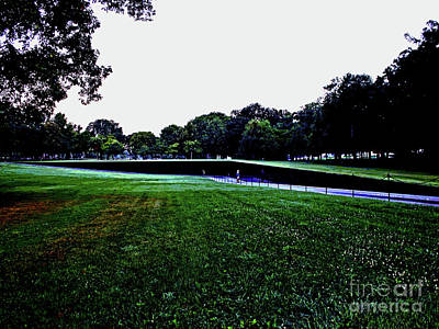 Tranquility At Sunrise  Vietnam Memorial Art Print by Larry Oskin