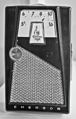 Art Print featuring the photograph Transistor Radio Blown Up by Matthew Bamberg