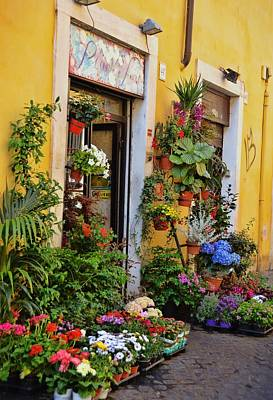 Photograph - Trastevere Flowers by JAMART Photography