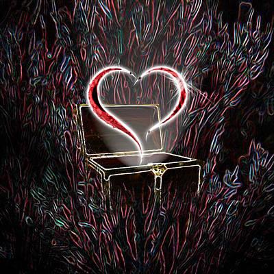 Treasure Box Digital Art - Treasure And Heart by Jeave Parcon