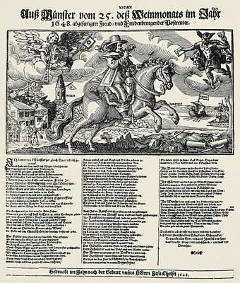 Treaty Of Munster, 1648 Art Print by Granger
