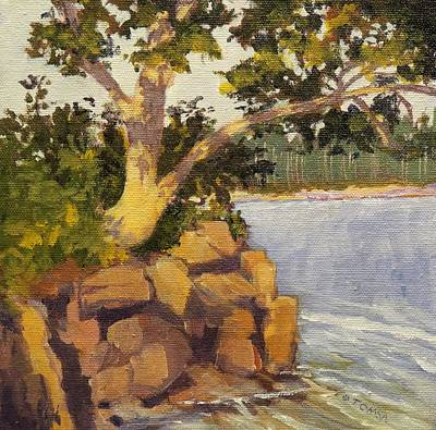 Painting - Tree At Bradford S. Point by Bill Tomsa