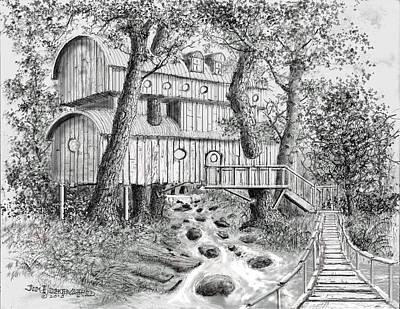 Tree House #5 Art Print by Jim Hubbard