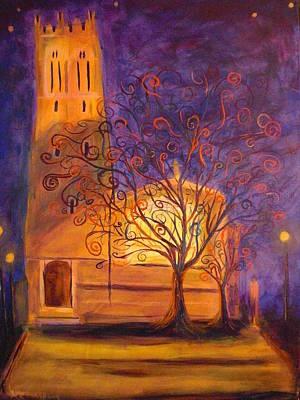 Tree In Ghent Art Print by Lauren Mooney Bear