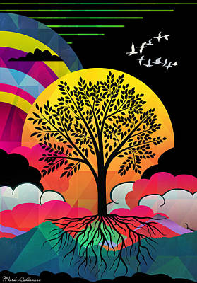 Spiritualism Painting - Tree by Mark Ashkenazi