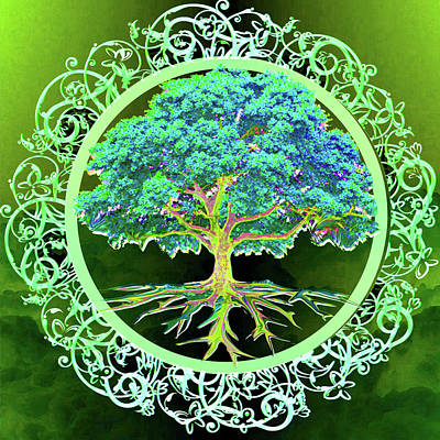 Digital Art - Tree Of Life Constant Energy 1 by Amelia Carrie