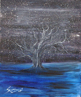 Painting - Tree Of Night by Suzanne Surber