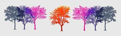 Digital Art - Trees by Cecilia Swatton
