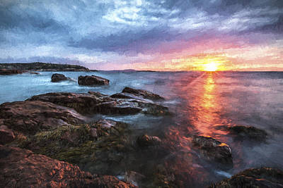 Shore Digital Art - Trembling On The Shore by Jon Glaser