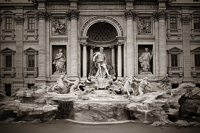 Photograph - Trevi Fountain Rome by Songquan Deng