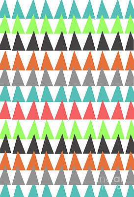 Repeat Digital Art - Triangles by Louisa Knight