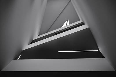 Abstract Architecture Photograph - Triangles by Tomas Hudolin
