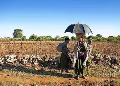 Photograph - Tribal Girls In Ethiopia  by Jacek Malipan