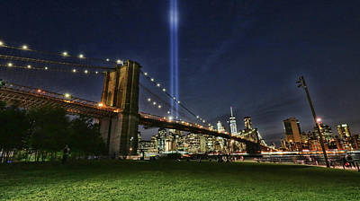 Photograph - Tribute In Light # 6 by Allen Beatty